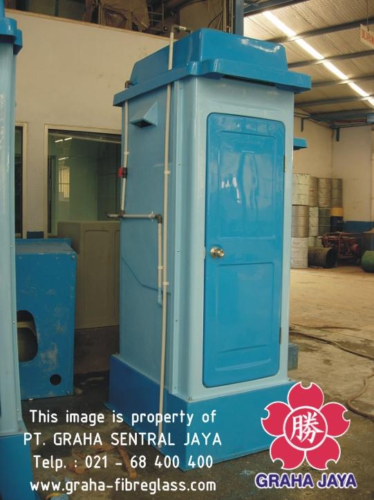 Toilet Portable Fiberglass Tipe B - Graha Sentral Jaya