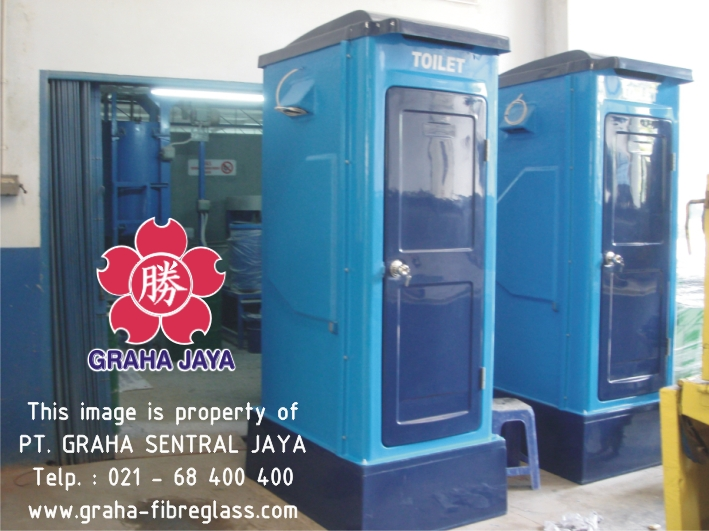 Toilet Portable Fiberglass Tipe C - Graha Sentral Jaya
