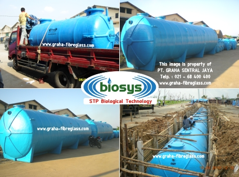 water treatment dengan STP BioSys dilengkapi dengan Blower & Submersible Pump
