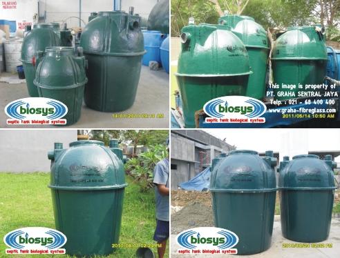 Septic Tank BioSys Tipe BS-Green Series untuk rumah tinggal / perumahan