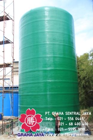 Tangki fiberglass tahan terhadap cairan kimia tinggi